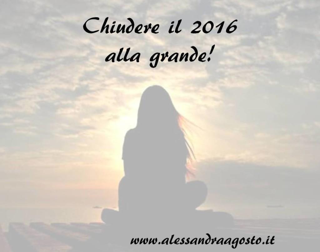 Chiudere il 2016 alla grande! Alessandra Agosto